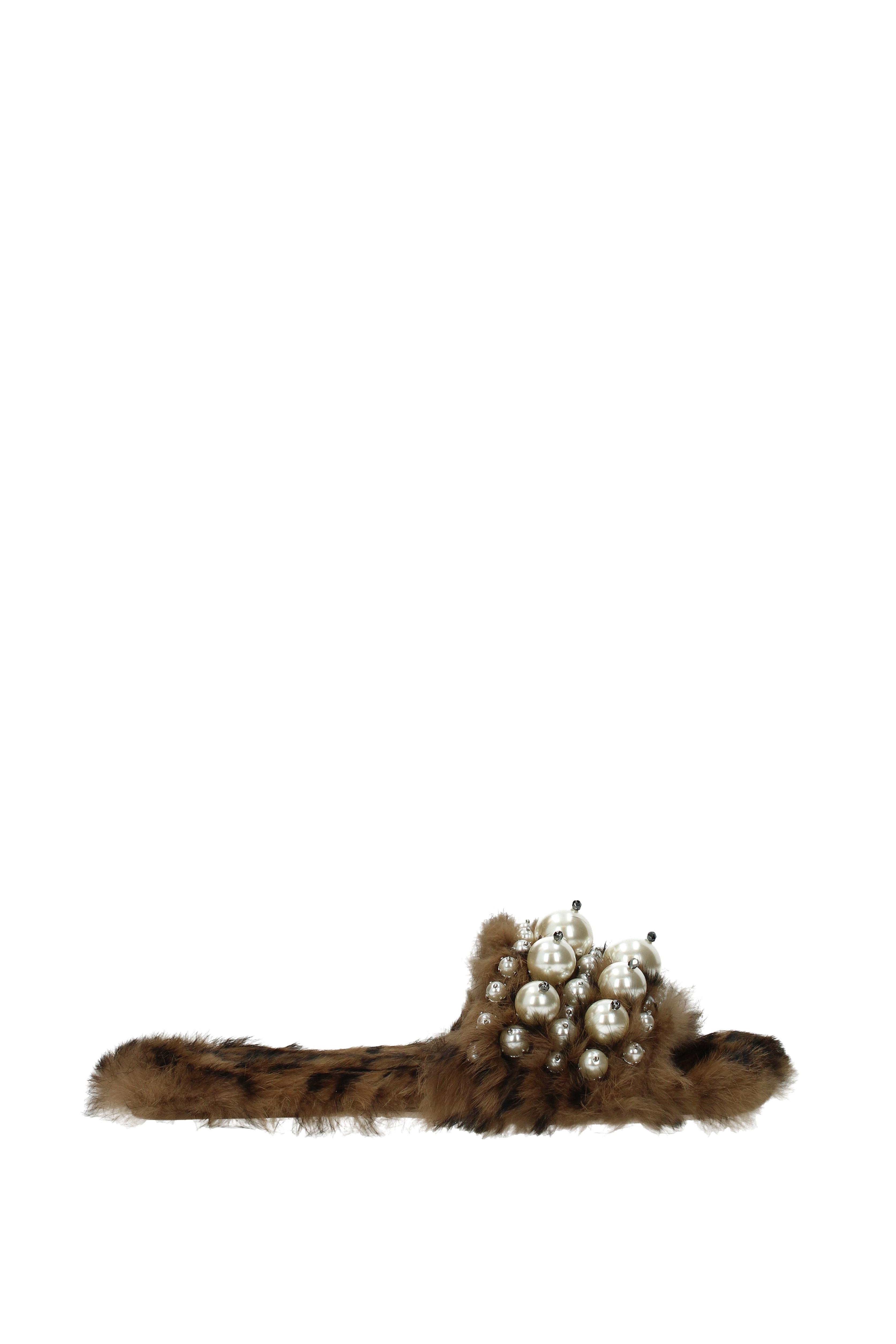 Flip-Flops Damen und Holzschuhe Miu Miu Damen Flip-Flops - Fell  (5XX115LAPINSTLEOPAR) 33d618