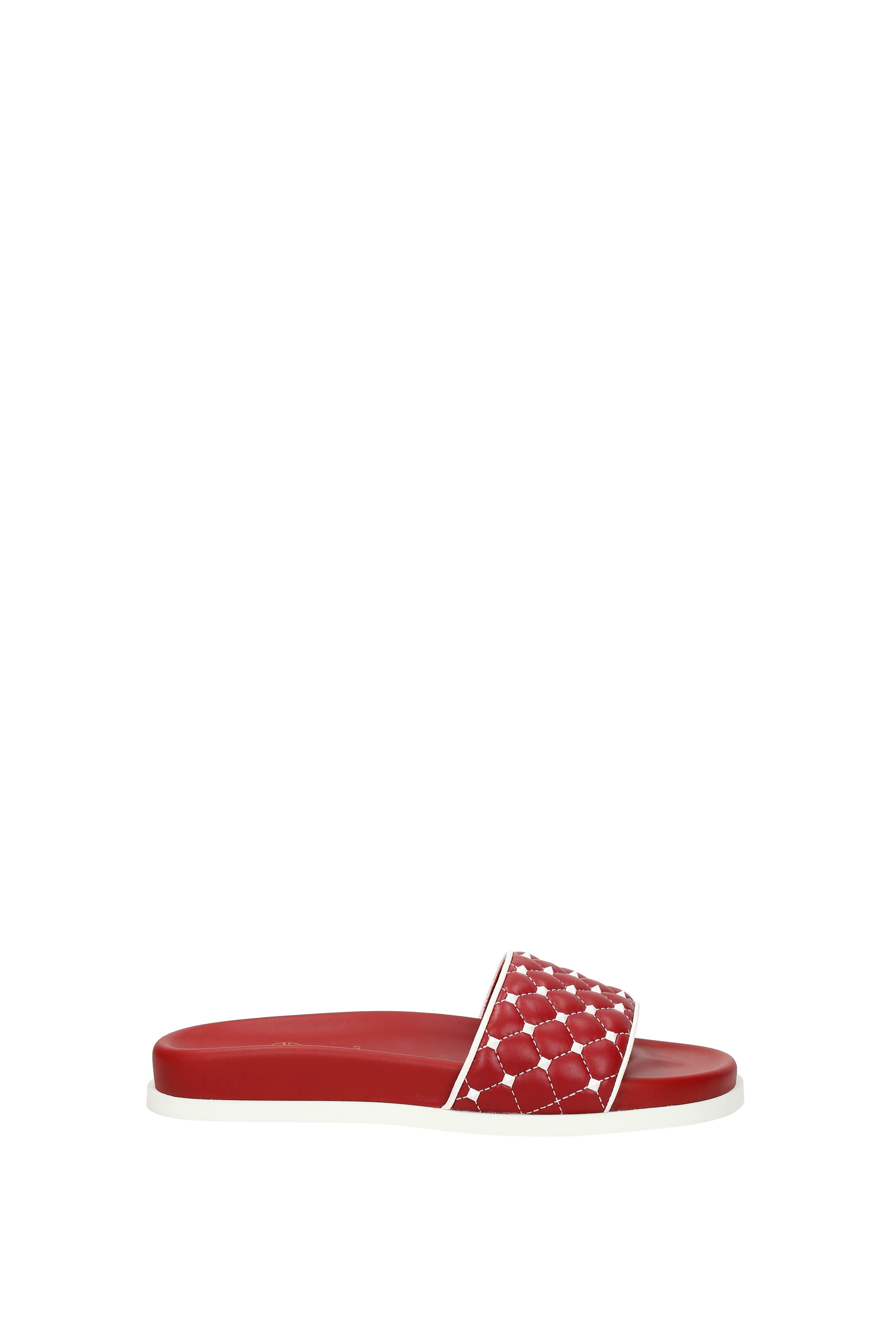 Flip-Flops Garavani und Holzschuhe Valentino Garavani Flip-Flops Damen - Leder (2S0F01RVH) 9fbc9e