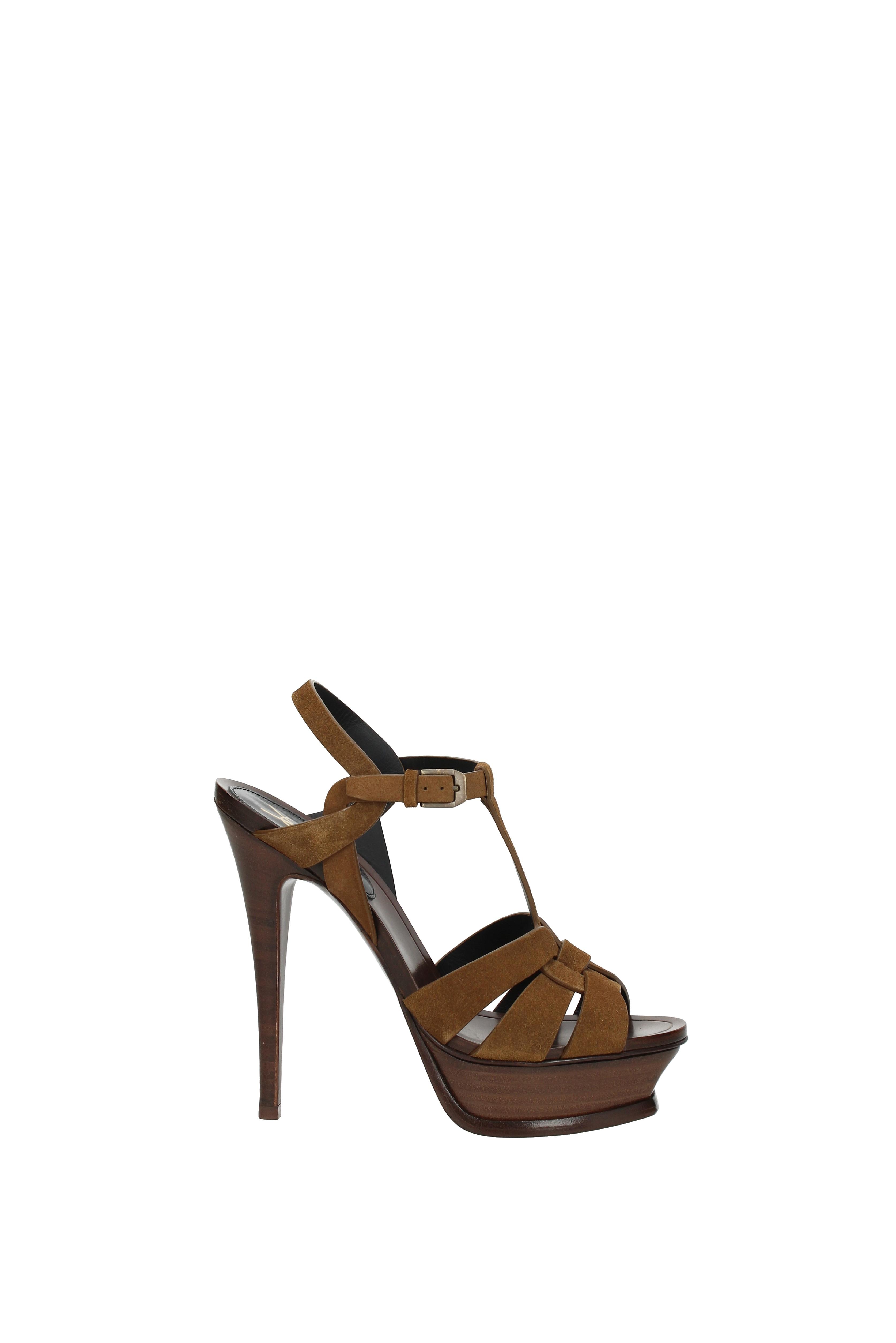 Sandalen Saint Laurent Damen - - - Wildleder (499525D5X00) 0ff017