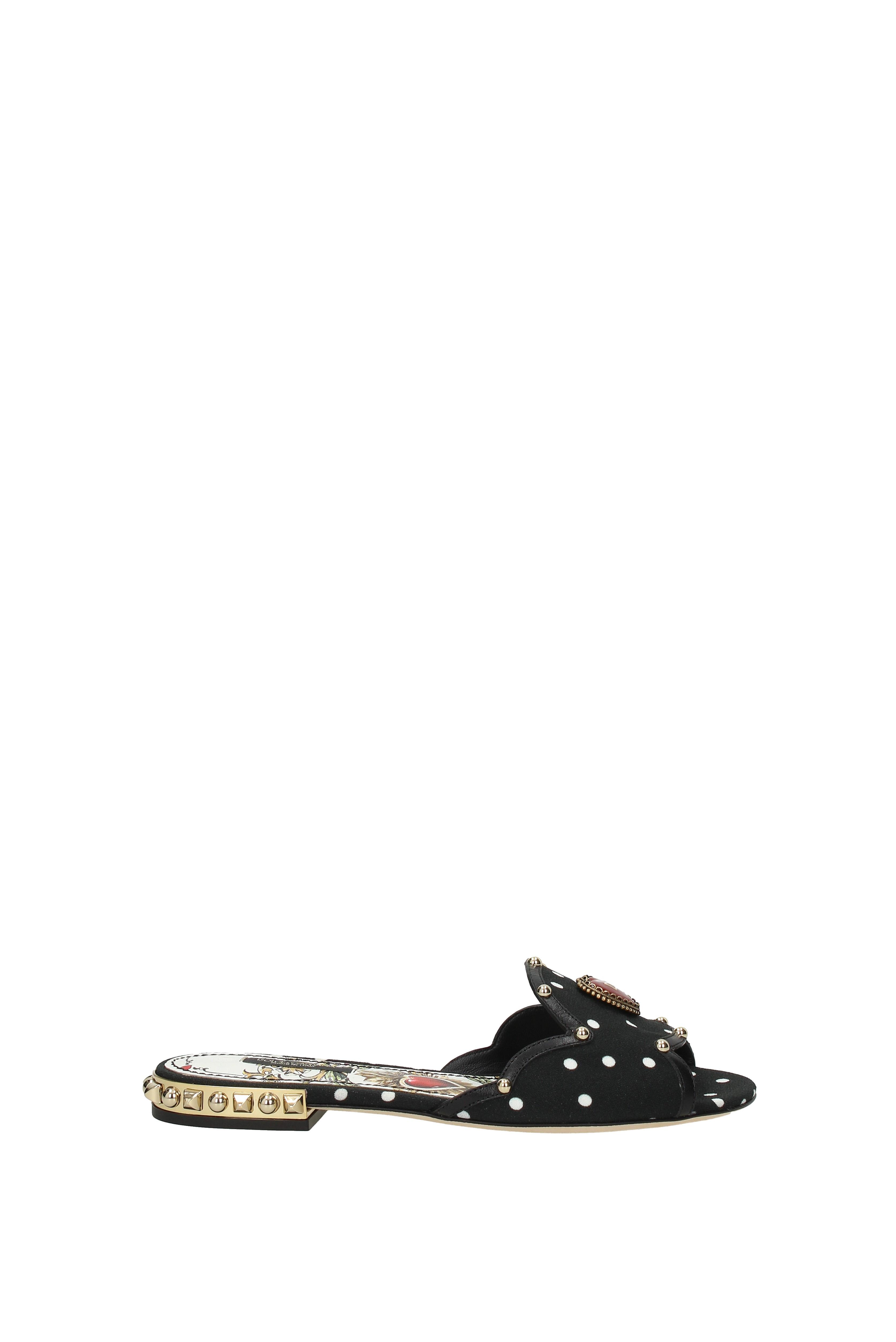 Flip-Flops Holzschuhe und Holzschuhe Flip-Flops Dolce&Gabbana bianca Damen - Stoff (CQ0157AN728) fb360f